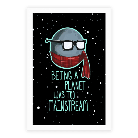 Hipster Pluto Poster