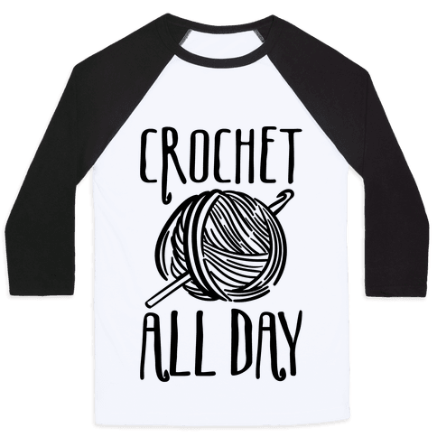 Crochet All Day Baseball Tee