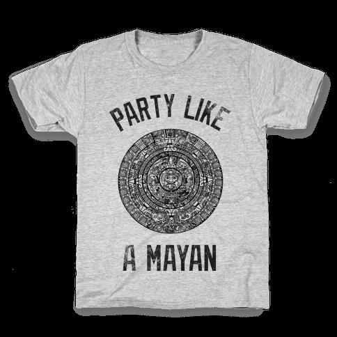 Party Like A Mayan (Vintage Tank) Kids T-Shirt