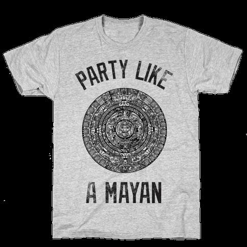 Party Like A Mayan (Vintage Tank) Mens T-Shirt