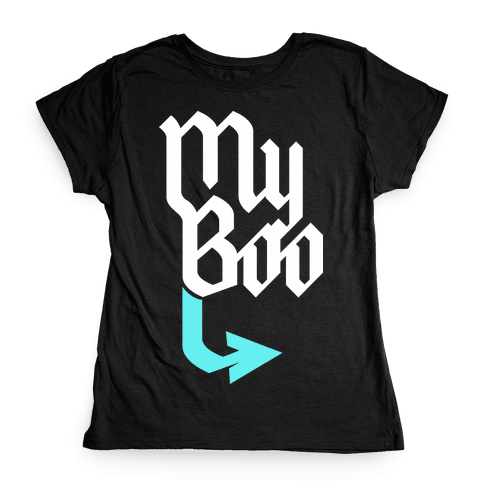 My Boo (Black Blue) Womens T-Shirt