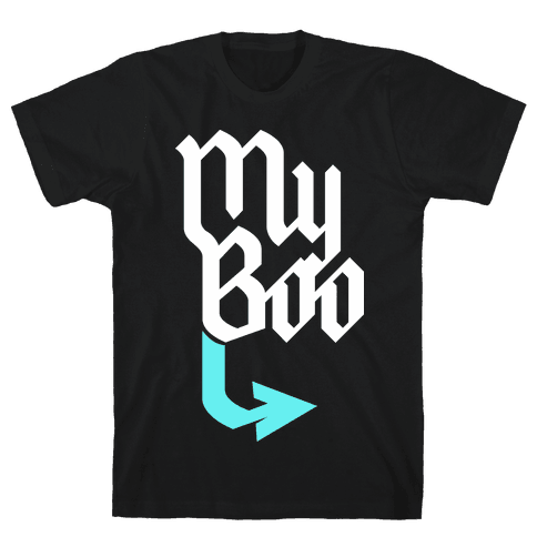 My Boo (Black Blue) Mens T-Shirt