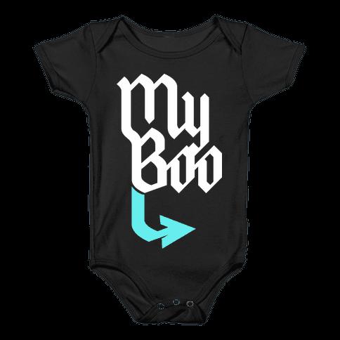 My Boo (Black Blue) Baby Onesy