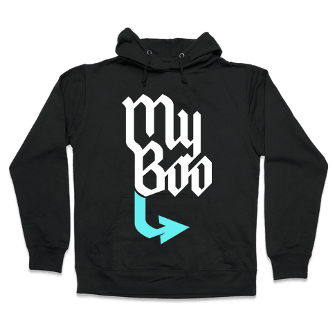 My Boo (Black Blue) Hooded Sweatshirt