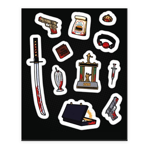 Cult Classic Icons Sticker and Decal Sheet