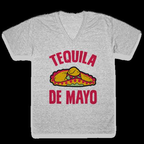 Tequila De Mayo V-Neck Tee Shirt