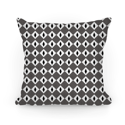 Black and White Diamond Eyes Pattern Pillow