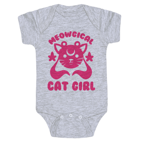 Meowgical Cat Girl Baby Onesy