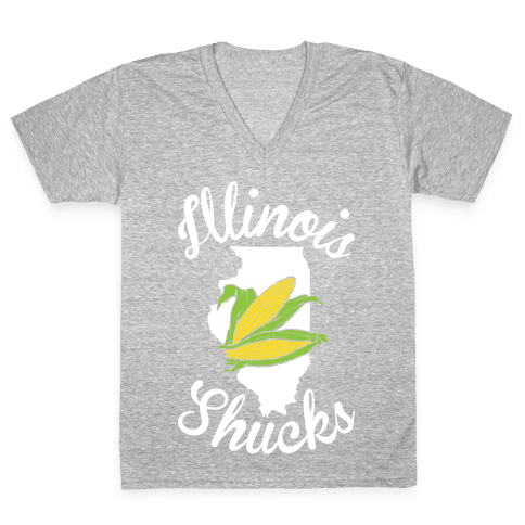 Illinois Shucks V-Neck Tee Shirt