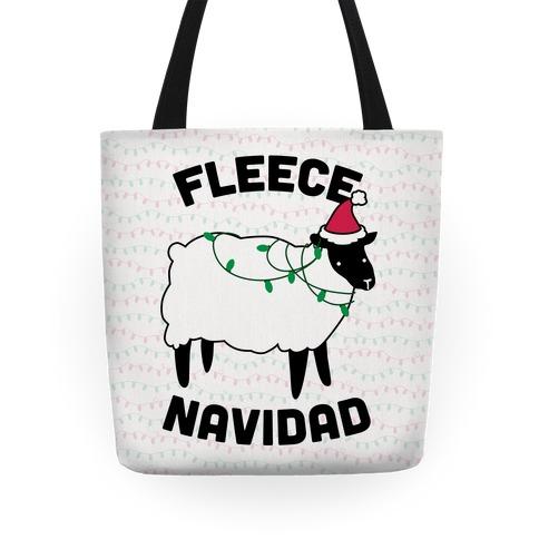 Fleece Navidad Tote