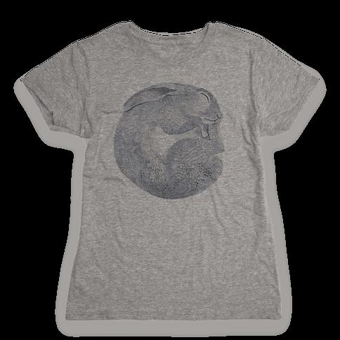 Moon Rabbit Womens T-Shirt