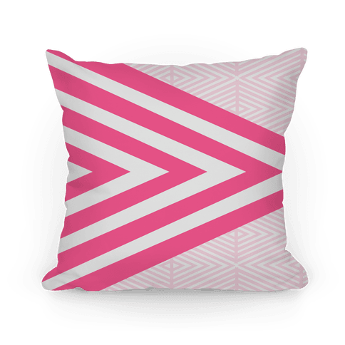 Large Pink Geometric Diamond Pattern Pillow