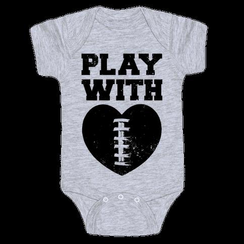 Play With Heart (Football) Baby Onesy