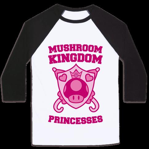 Team Mushroom Kingdom Princesses Baseball Tee