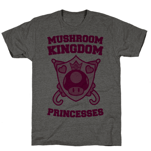 Team Mushroom Kingdom Princesses Mens T-Shirt