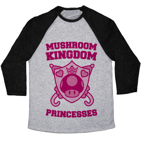 Team Mushroom Kingdom Princesses Baseball Tee