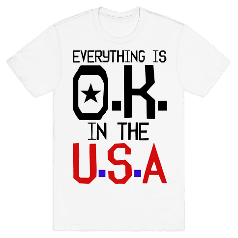 U.S.A. O.K. Mens T-Shirt