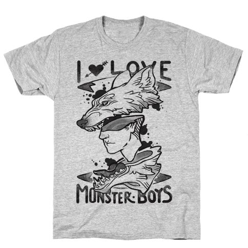 I Love Monster Boys Mens T-Shirt