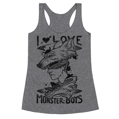 I Love Monster Boys Racerback Tank Top