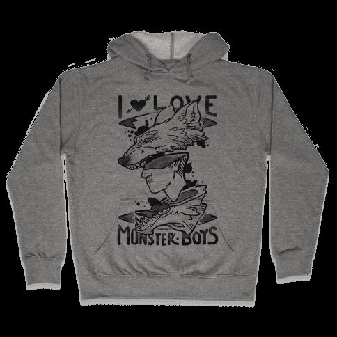I Love Monster Boys Hooded Sweatshirt