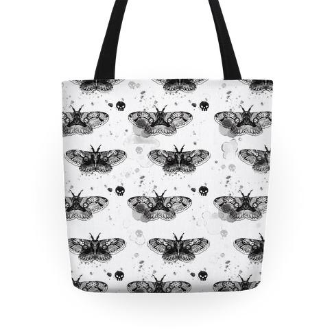 Moth Skull Pattern Tote