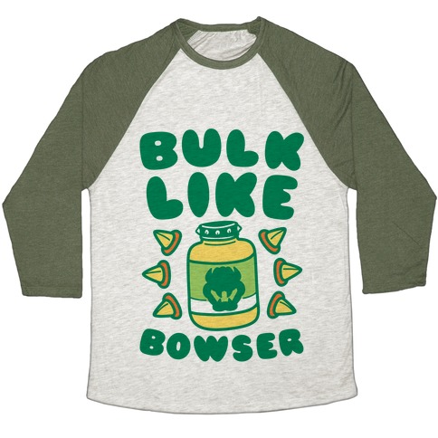 Bulk Like Bowser Baseball Tee