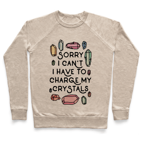 Sorry I Can't I Have To Charge My Crystals Pullover