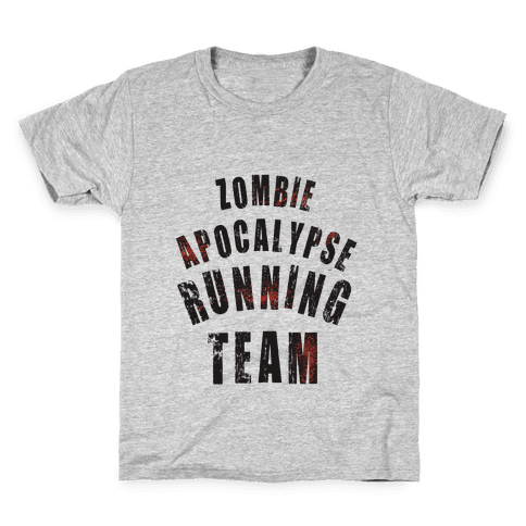 Zombie Apocalypse Running Team Kids T-Shirt