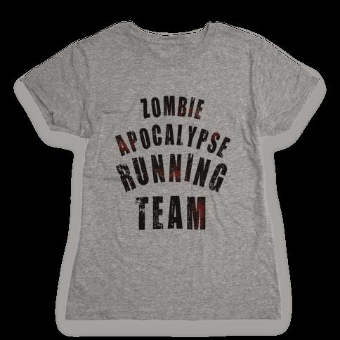 Zombie Apocalypse Running Team Womens T-Shirt