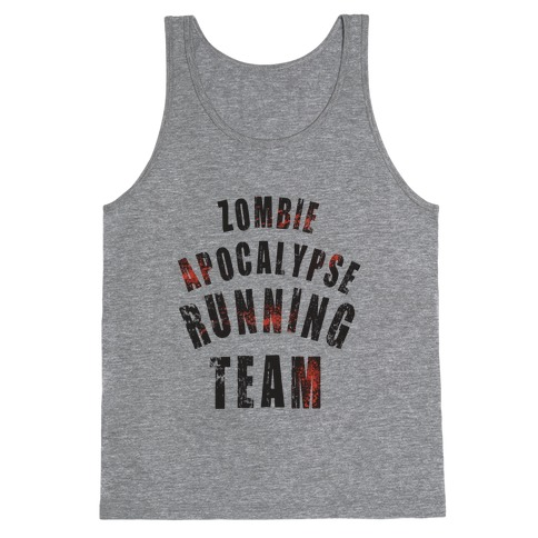Zombie Apocalypse Running Team Tank Top