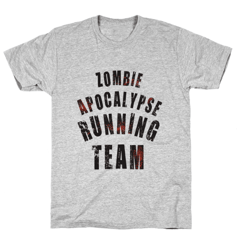 Zombie Apocalypse Running Team Mens T-Shirt