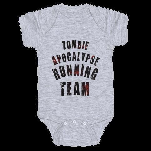 Zombie Apocalypse Running Team Baby Onesy