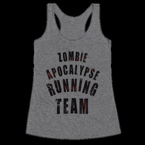 Zombie Apocalypse Running Team Racerback Tank Top