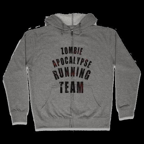 Zombie Apocalypse Running Team Zip Hoodie