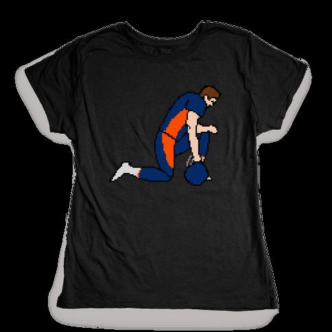 Pixel Tebow Womens T-Shirt