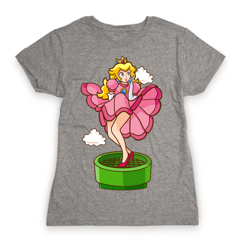 Plumbers Prefer Blondes (Peach Pin-up) Womens T-Shirt