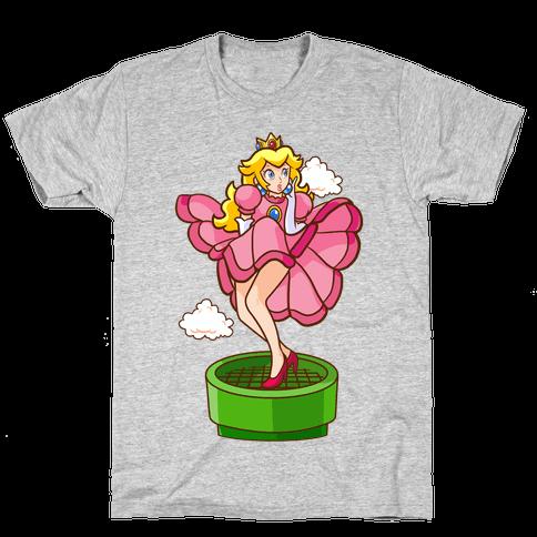 Plumbers Prefer Blondes (Peach Pin-up) Mens T-Shirt