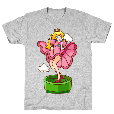 Plumbers Prefer Blondes (Peach Pin-up) Mens T-Shirt
