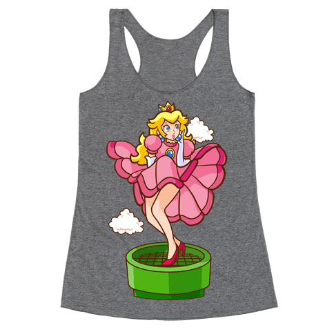 Plumbers Prefer Blondes (Peach Pin-up) Racerback Tank Top