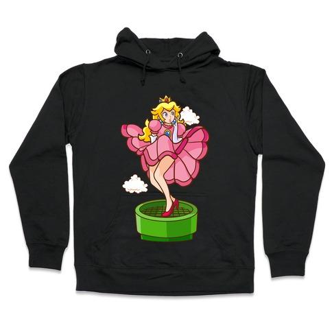 Plumbers Prefer Blondes (Peach Pin-up) Hooded Sweatshirt