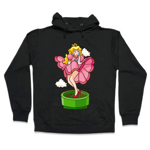 Plumbers Prefer Blondes (Peach Pin-up) Hooded Sweatshirt
