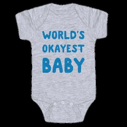 World's Okayest Baby Baby Onesy