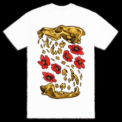 Coyote's Golden Skull Mens T-Shirt