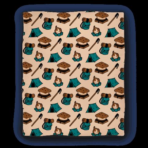 Camping Pattern Blanket