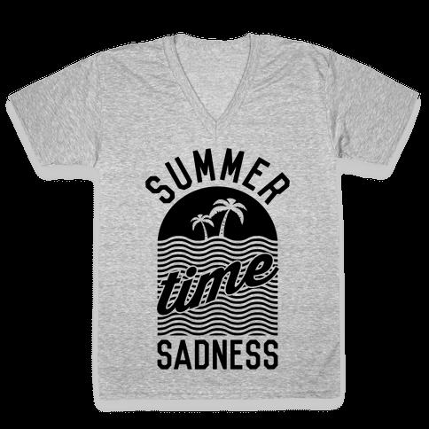 Summertime Sadness V-Neck Tee Shirt