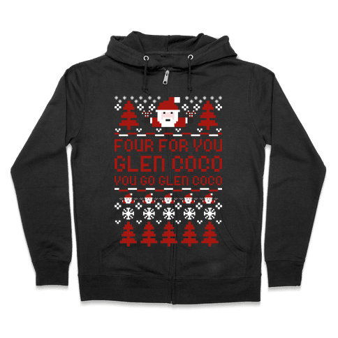 Ugly Sweater Glen Coco Zip Hoodie