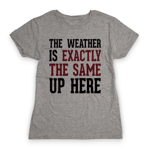 The Weather Is Exactly The Same (Tank) Womens T-Shirt