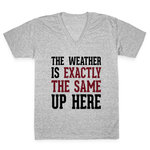 The Weather Is Exactly The Same (Tank) V-Neck Tee Shirt