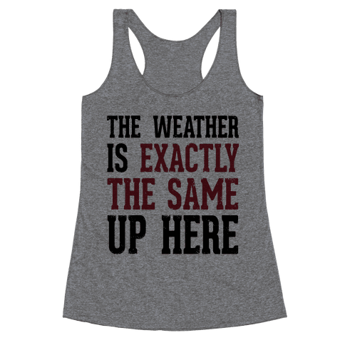 The Weather Is Exactly The Same (Tank) Racerback Tank Top