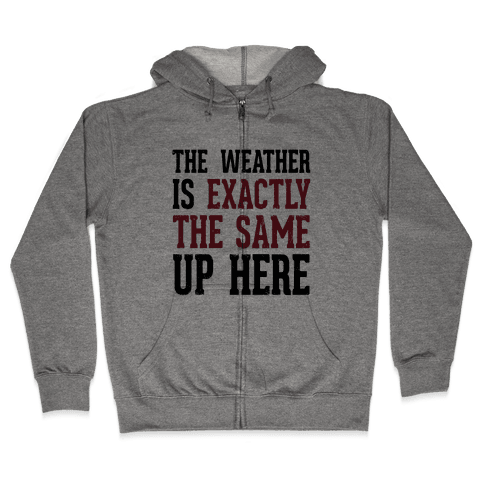 The Weather Is Exactly The Same (Tank) Zip Hoodie